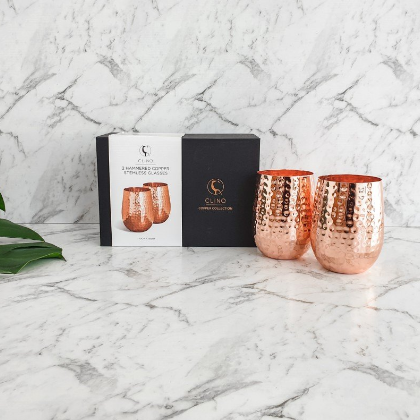 Copper Glasses With Packaging