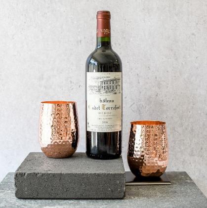 Copper Glasses With Wine