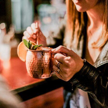 Copper Mug Lady