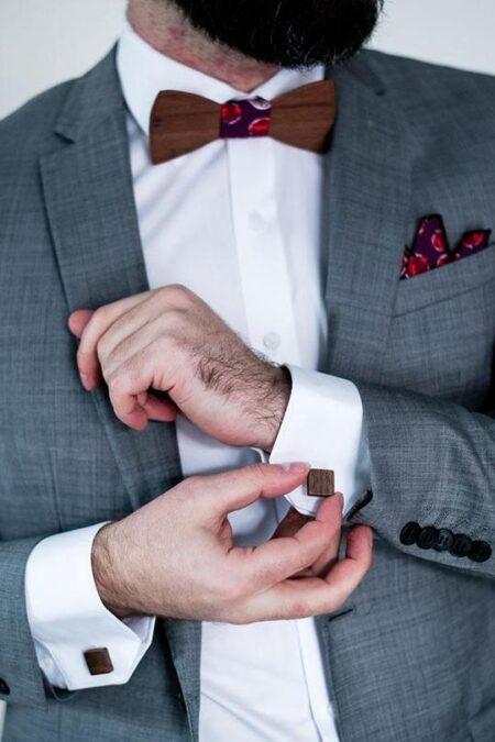Cufflinks Roasted Blackbutt With Man