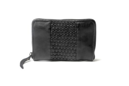 Pearl Zip Wallet Black