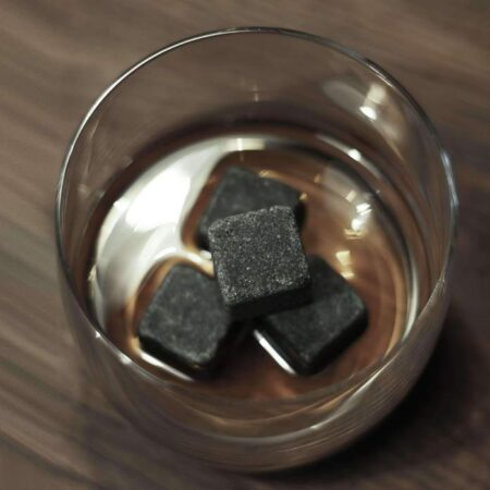 Whiskey Cooling Stones In Glass