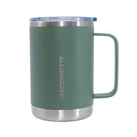 Alcoholder Tankd 16oz 475ml Insulated Mug With Handle Matte Hunter Green 1800x1800