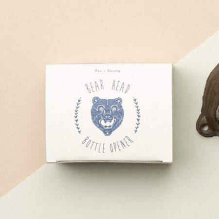 Bear Head Cast Iron Bottle Opener Packaging