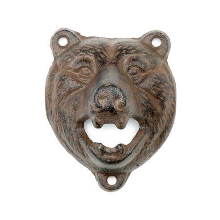 Bear Head Cast Iron Bottle Opener Wall 1