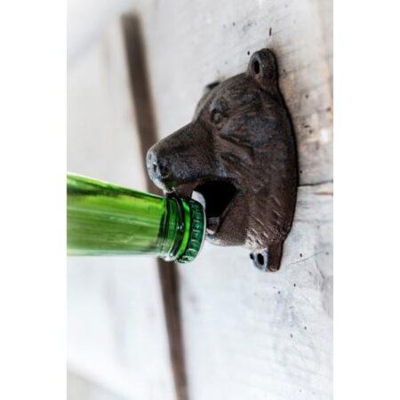Bear Head Cast Iron Bottle Opener Wall