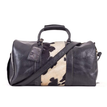 Beckwith Duffle Hide Panel Black White